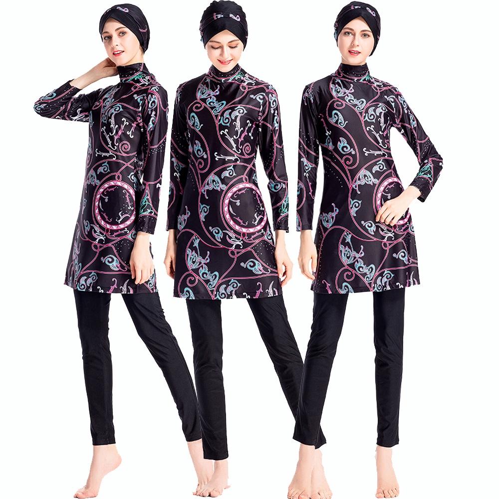 be4b77b696 Muslim Swimwear Islamic Women Hijab Burkinis Swim Beach Full Coverage  Swimsuit