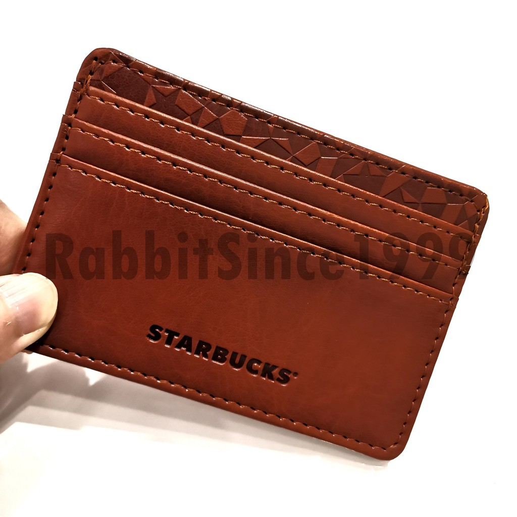 MALAYSIA STARBUCKS CARD HOLDER- brown- starbucks card holder/ starbucks name card holder/ malaysia name card holder