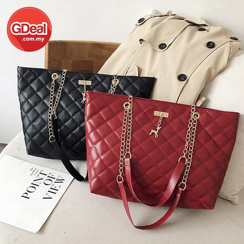 GDeal Korean Women Fashion Elegant PU Shoulder Casual Bag Dinner Leisure Handbag Beg Tangan Wanita بيڬ تاڠن وانيتا