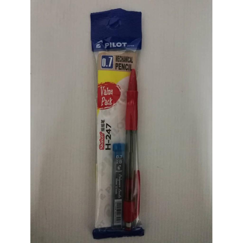 Pilot Shaker Mechanical Pencil H-247 0.7mm (Free Pencil Lead) 12pcs