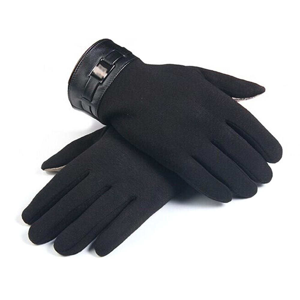 US/_ 2Pcs Women Winter Warm Kint Full Finger Fleece Lined Touch Screen Thermal Gl