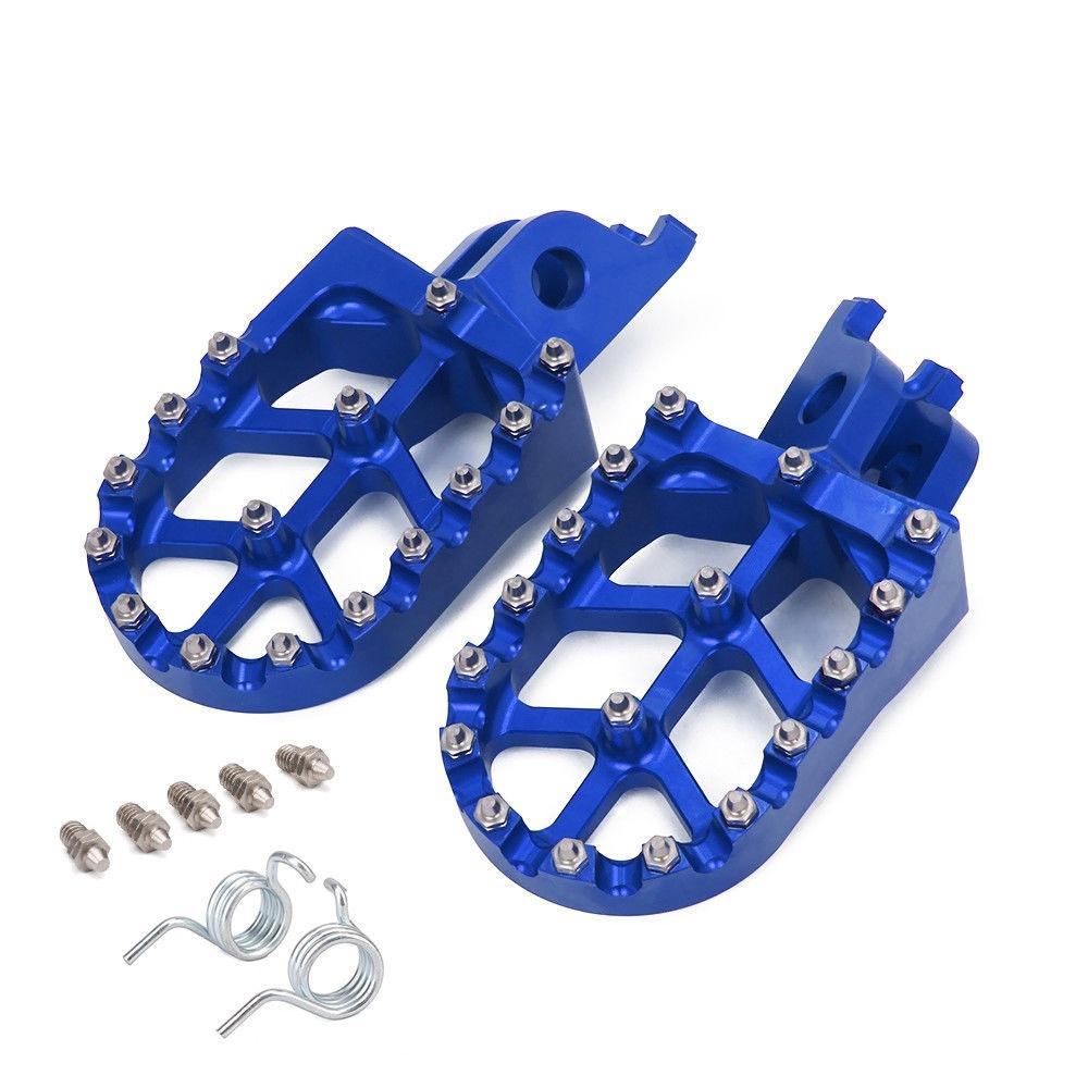 CNC Wide Fat Foot Pegs Footpegs Fits Suzuki RMZ 250 2007-2009 RMZ 450 2005-2007