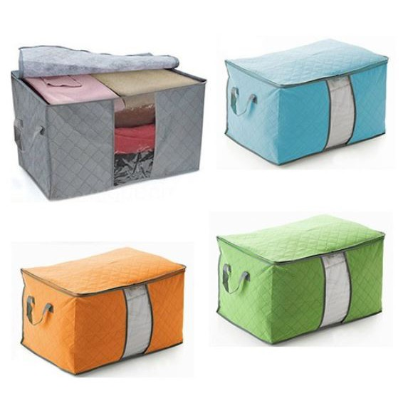 [Ready Stock] 65L Large Storage Bag Box for Clothes Quilt Duvet Laundry Pillows Plus Size 衣物收纳筐折叠存储收纳袋