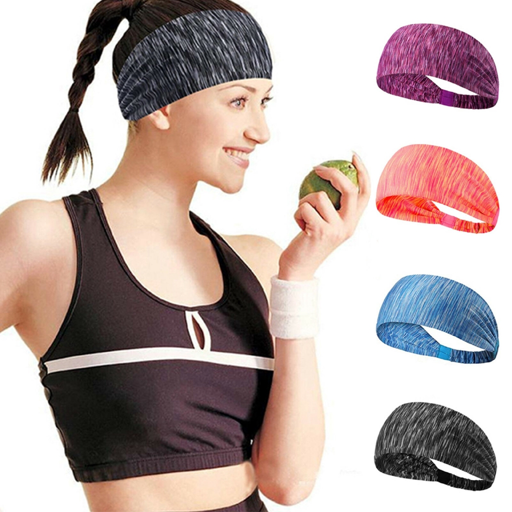 1X Fashion Unisex Sport Sweat Sweatband Headband Yoga Gym Stretch Head Band Hair