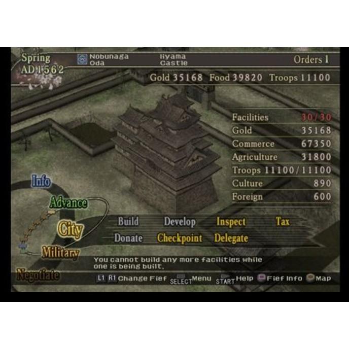 PS2 Game Nobunaga Ambition: Iron Triangle, Rise to Power, 信長の野望, Strategy Game, English version / PlayStation 2