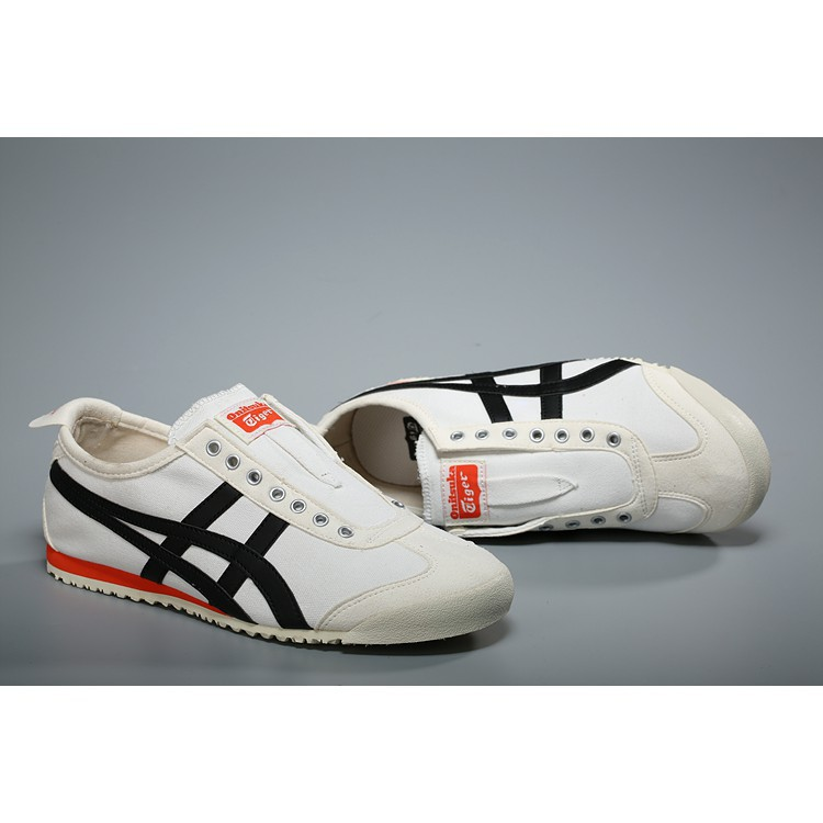 huge discount 97065 3fe57 Asics Onitsuka Tiger MEXICO 66 white black low top skateboard slip on 36-44