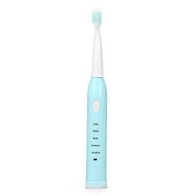Electric Toothbrush with 4 Replacement Brush Heads (TRON BLUE)