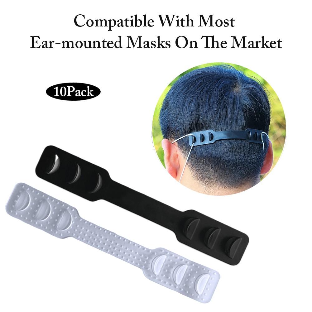 KEIBODETRD Medical Mask Mask 3PCS Ear Hanging Adjustable Buckle Ear Rope Mask Hook Type Mask Useful Extension Buckle