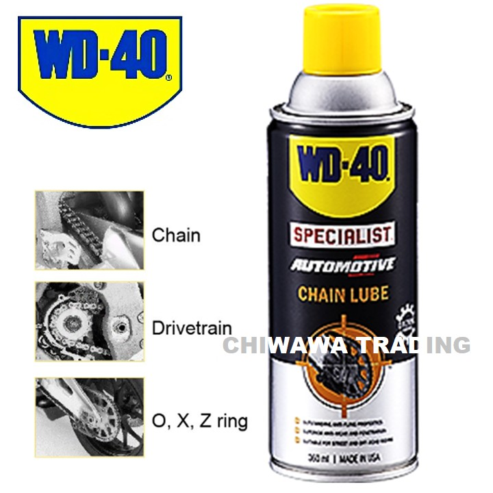 WD 40 Specialist Automotive Anti Fling Chain Lube Spray 360ml