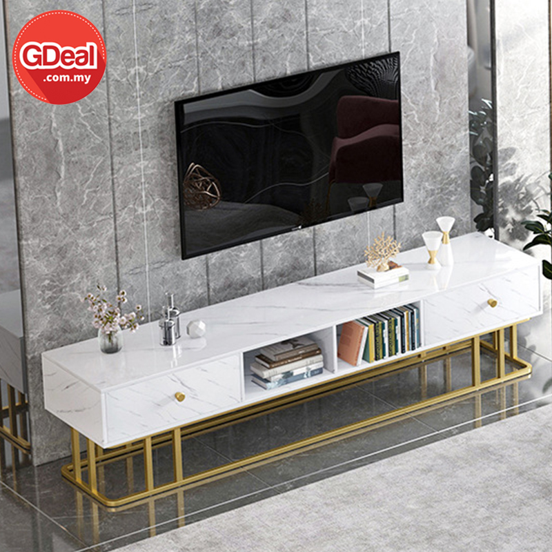 GDeal Northern Europe TV Cabinet Luxury Living RoomTable Combination Floor Cabinet Multi-functional Furniture Rak TV