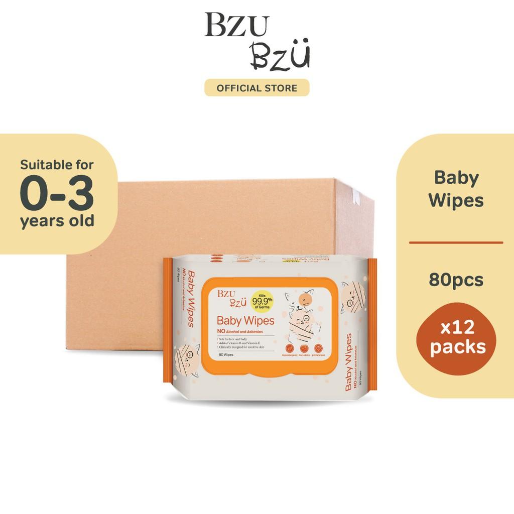 BZU BZU Baby Wipes (80 Pcs x 12)
