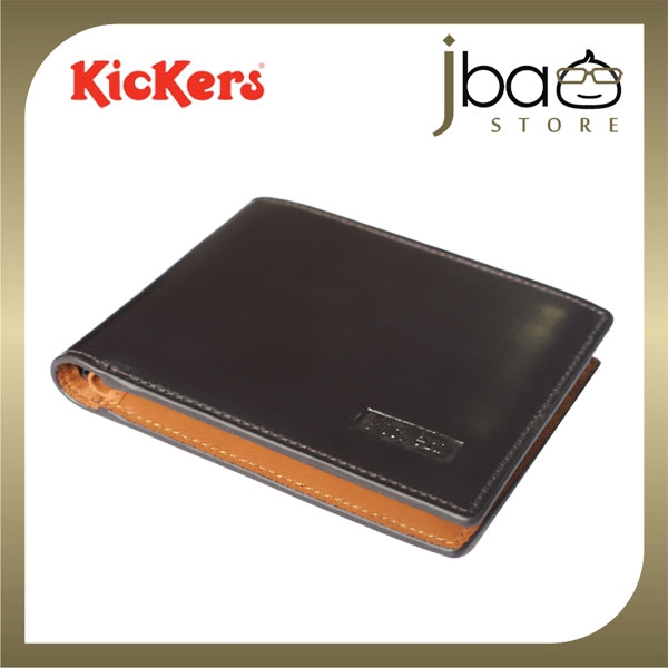 Kickers KDPJ-NC-51030 RFID Secure Protection Men Leather Wallet Radio Frequency Identification