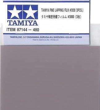 TAMIYA SANDING PAPER / TAMIYA FINE LAPPING FILM 3000