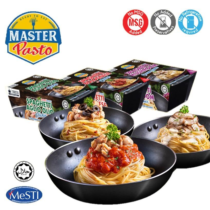 HALAL] 3️⃣ Minutes Instant Spaghetti Bolognese Master Pasto 即食意大利面番茄酱 pack  (Fork Included) 300g x 1 PACK Spageti Segera | Shopee Malaysia