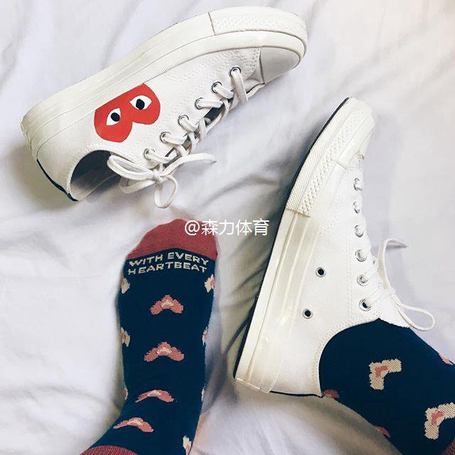 READY STOCK cdg x converse 1970s Play love joint canvas shoe