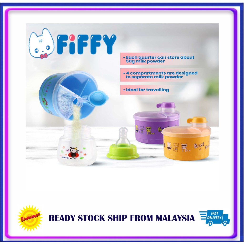 Original Fiffy Milk Powder Container + Few Colors Choice