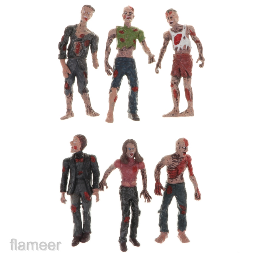 Miniature Walking Corpses Doll Movie Characters Action Zombie Figure Toy