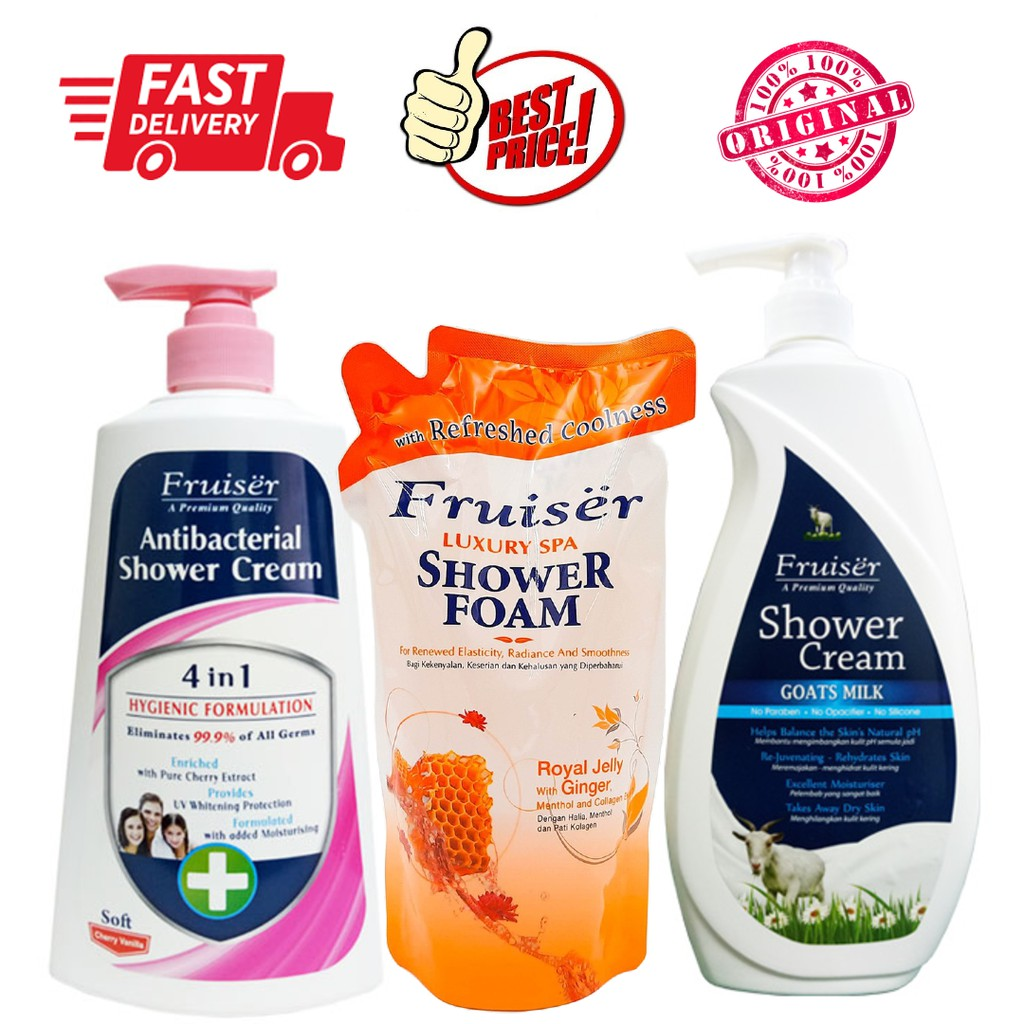 Fruiser Shower Cream/Antibacterial/Shower Foam Refill Pack