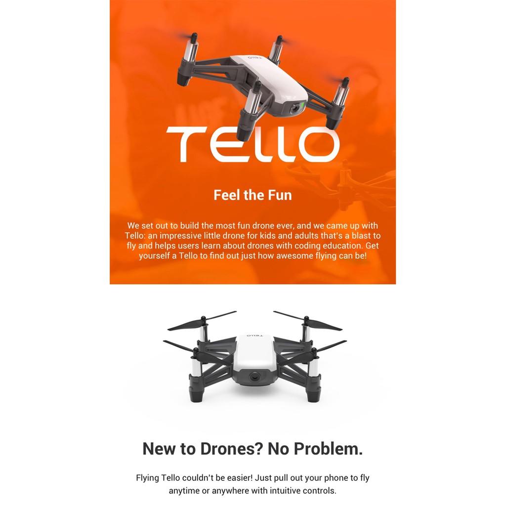 DJI Tello Mini Drone APP Remote Control Folding Toy FPV RC