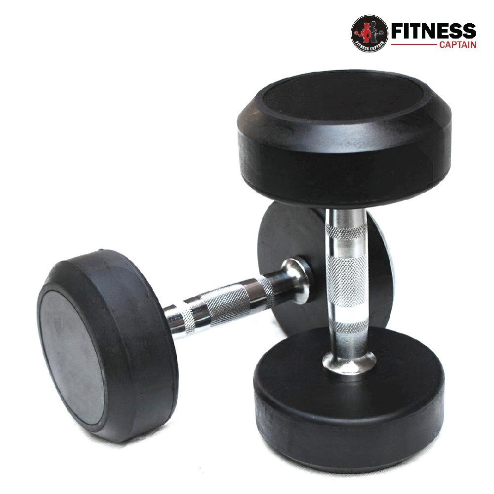 627c37a0538 Fitness Gym Rubber-Coated Hexagon Dumbbell 5KG ( 2 units )