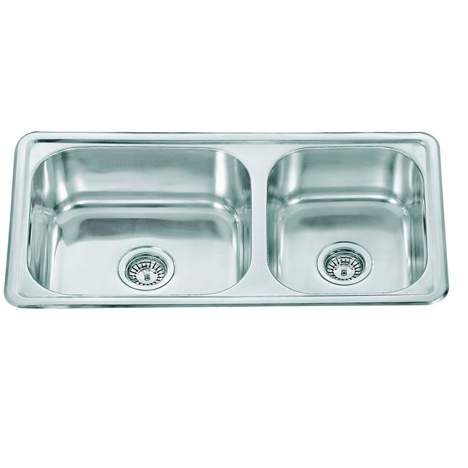 Double Bowl Stainless Steel Sin C/W Waste NKS-882