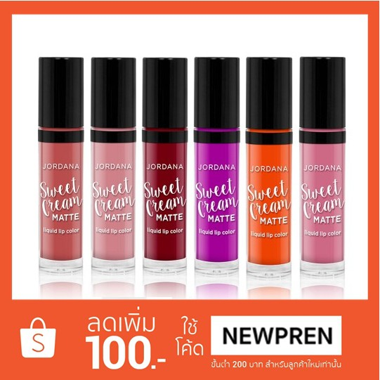 Jordana Sweet Cream Matte Liquid Lip Colo