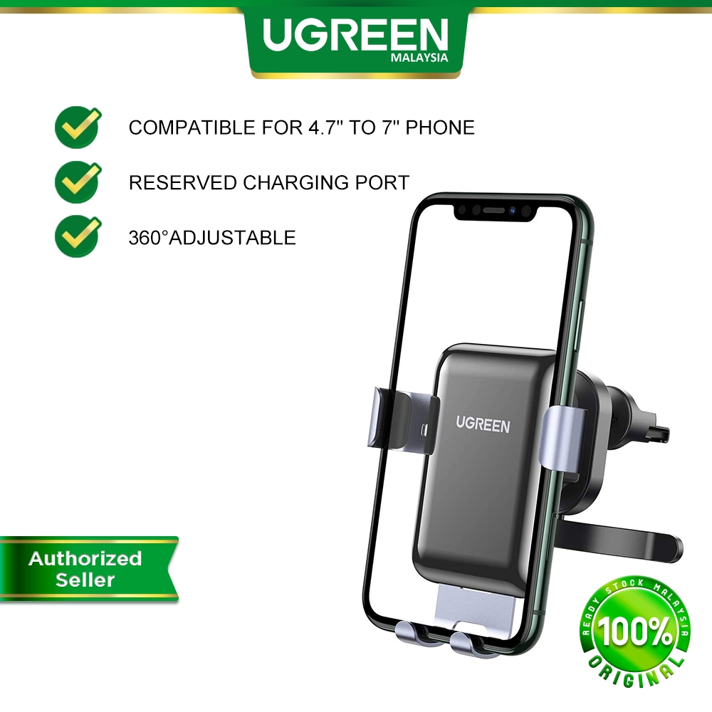UGREEN Gravity Car Mount Air Vent Cell Adjustable Phone Holder Compatible for i-Phone Samsung Galaxy Huawei Vivo Oppo