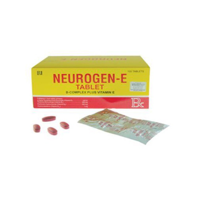 Neurogen-E Tablet (B-complex + Vitamin E) 1 strip / 5 strips