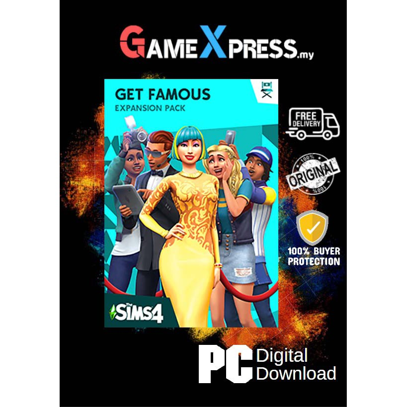 The Sims 4 Get Famous Expansion PC Game Origin Platform