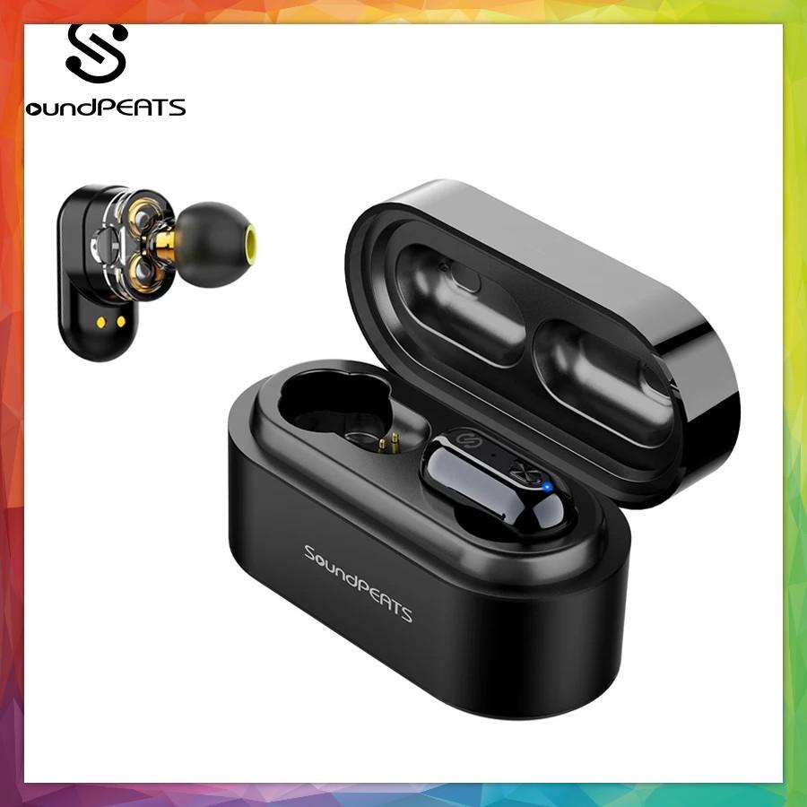 SoundPEATS Truengine Earbuds Wireless Bluetooth 5.0 in-Ear Stereo IPX6 Earphones Dual Dynamic Drivers Sweatproof