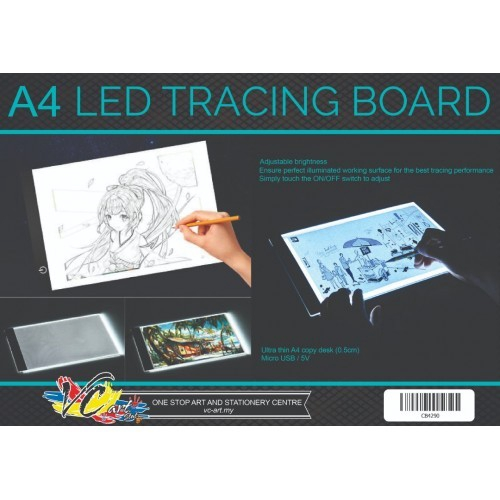 Clipboard Aaaj-a4 Led Stencil Board Light Box Artist Tracing Drawing Copy Plate Table Gift Office & School Supplies