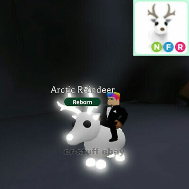 Adopt Me Legendary Artic Reindeer Neon Fly Ride Nfr Shopee Malaysia