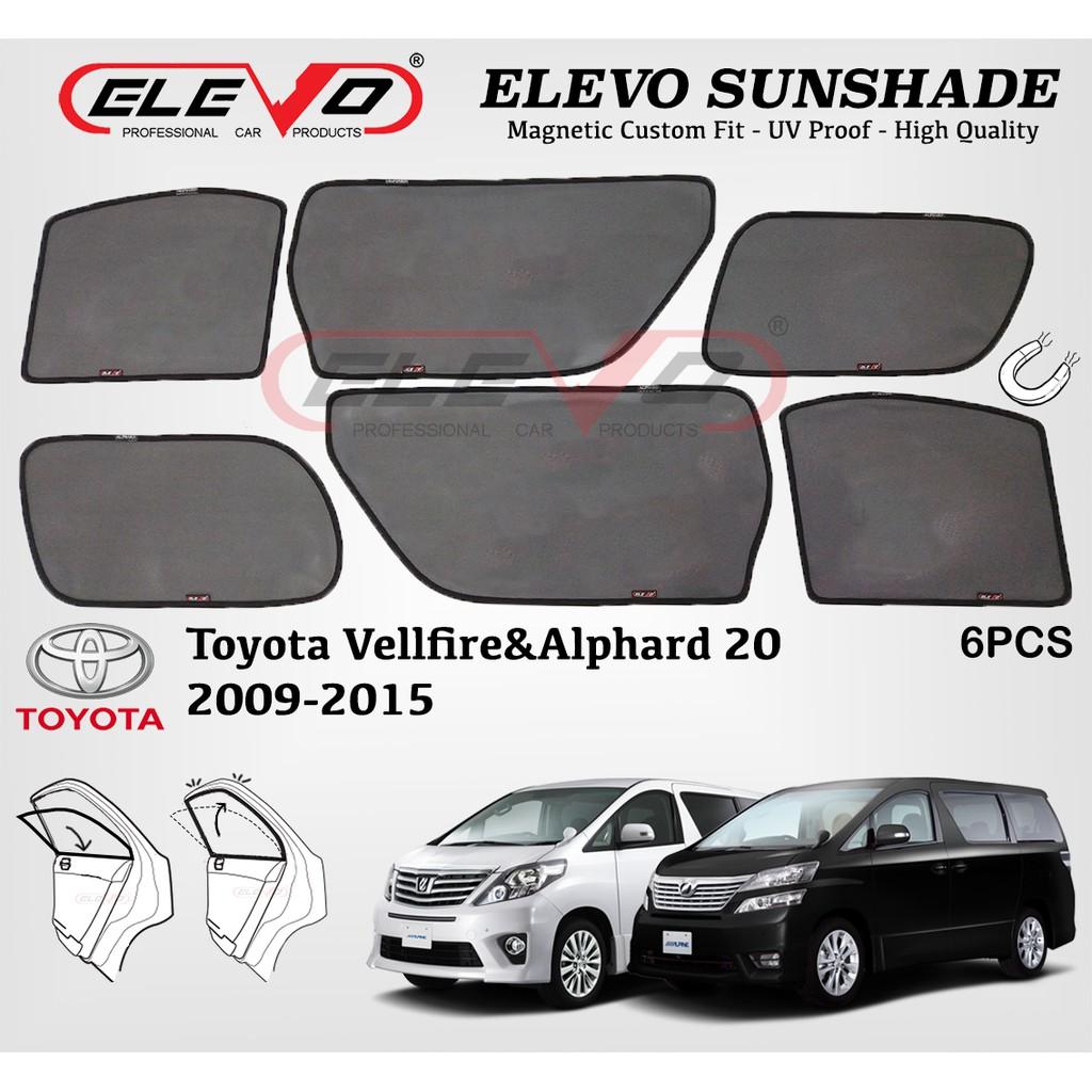 Toyota Vellfire Alphard AH20 ELEVO Magnetic Custom Fit Sunshade 6pcs