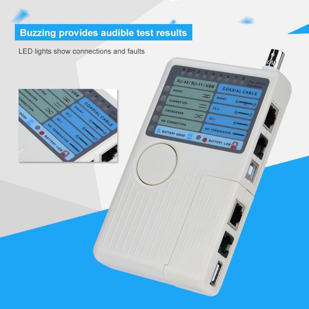 Rj45 Rj11 Usb Bnc Network Tester Lan Cable Tracker Detector 10base Rg45 And Etc Circuit Testers Like 0
