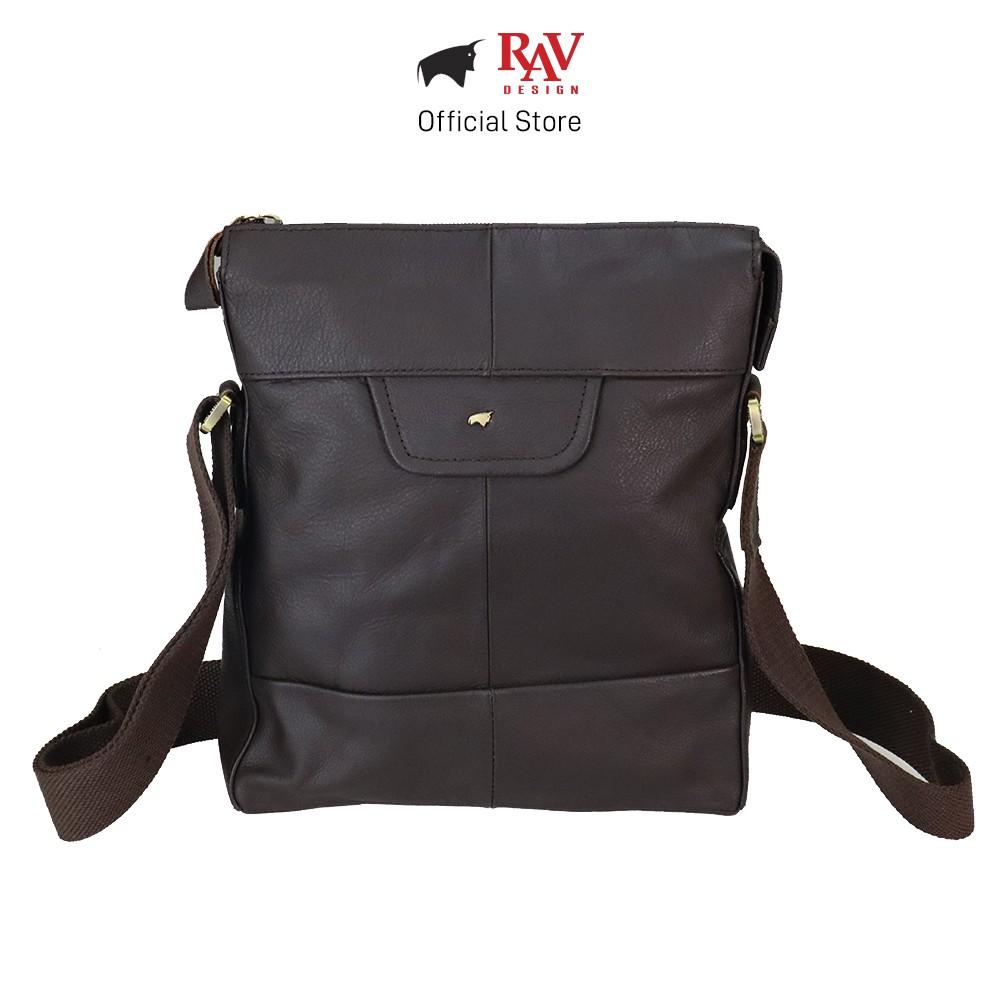 RAV DESIGN Men Genuine Cow Leather Sling Bag Brown |YRC053G3