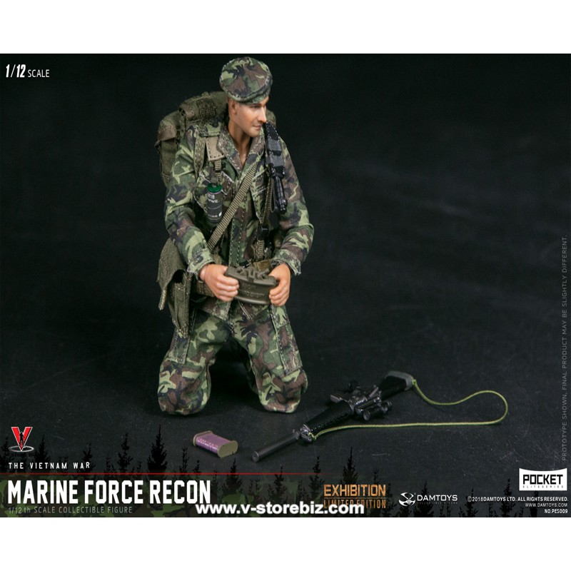 DAMTOYS PES009 1//12 Marine Force Recon in Vietnam POCKET ELITE SERIES Figure Set