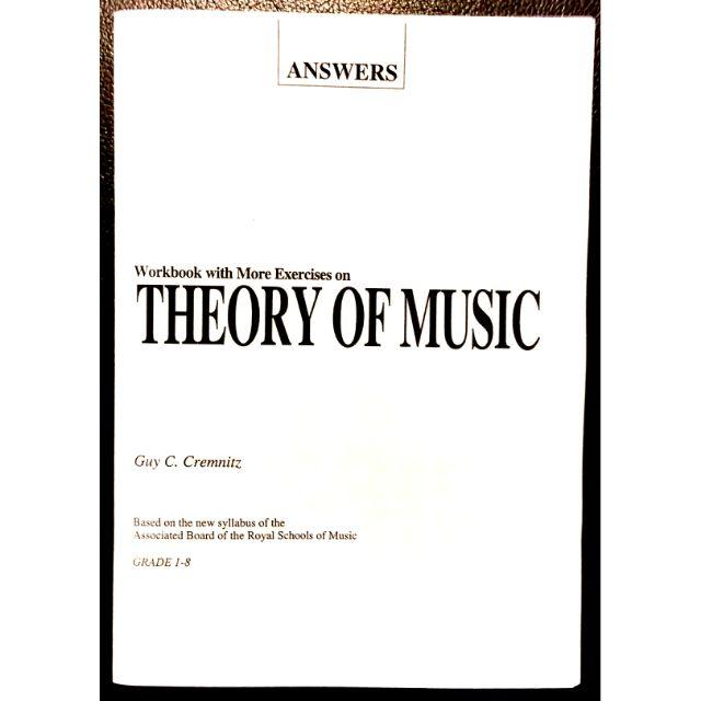 Theory of Music Workbook ANSWERS Guy Cremnitz Grades 1-8