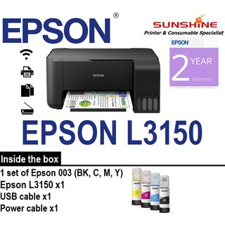EPSON L3150 WIFI ALL IN ONE REFILLABLE INK TANK PRINTER