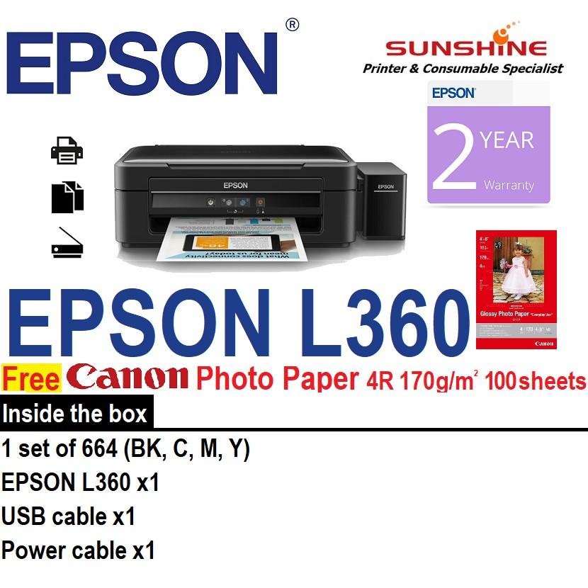 download epson l360 printer driver