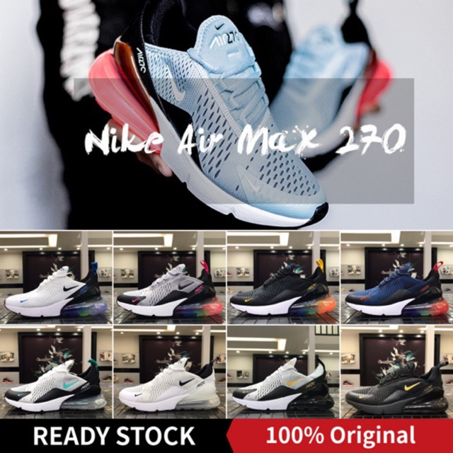 huge selection of e037f 1b91c Nike Air Max 270 Mens Running Shoes Sport Outdoor Sneakers Comfortable  Breathable For Men AH8050-100 EUR Size