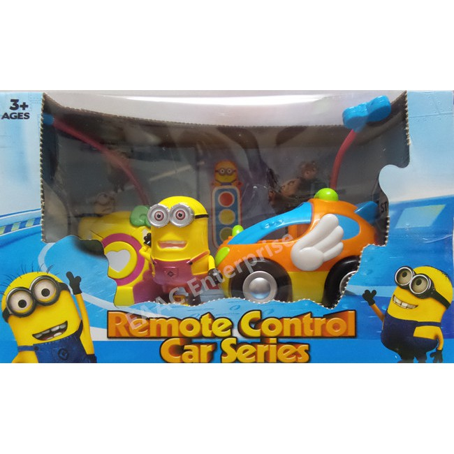 RC Remote Control Minions Car + Music + Lights Toys