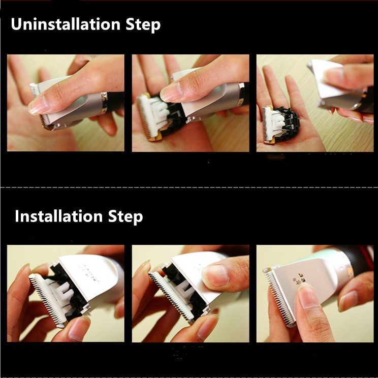 Professional Rechargeable Electric Hair Clipper Beard Trimmer Cutter