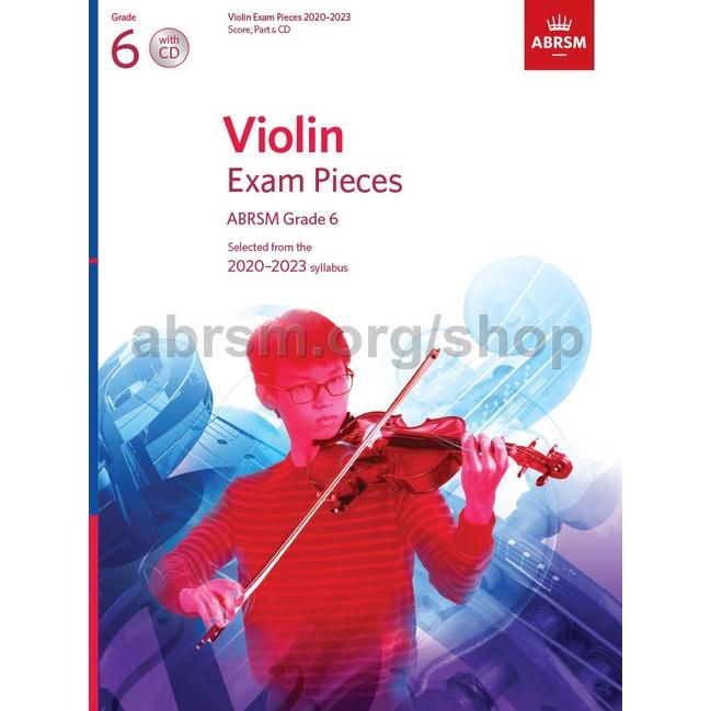 ABRSM Violin Exam Pieces 2020-2023 Grade 6 (With CD) / Violin Book / Violin Exam Book