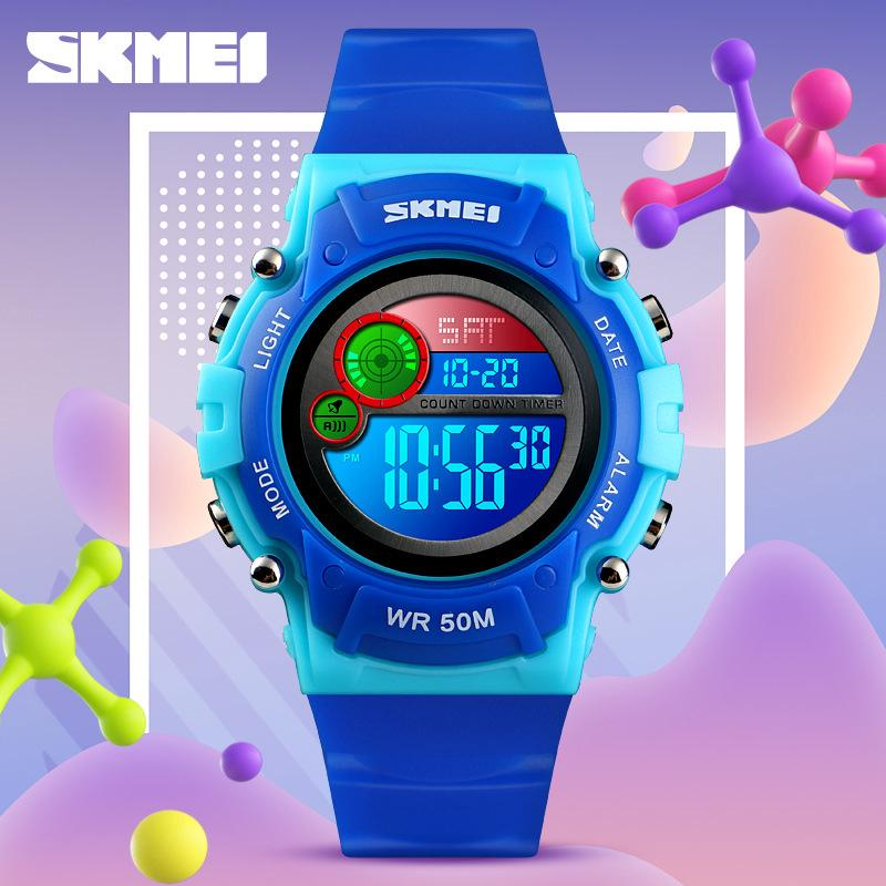 SKMEI Kids Watch Fashion Waterproof Wristwatch Boys Girls Digital Gifts  1477##