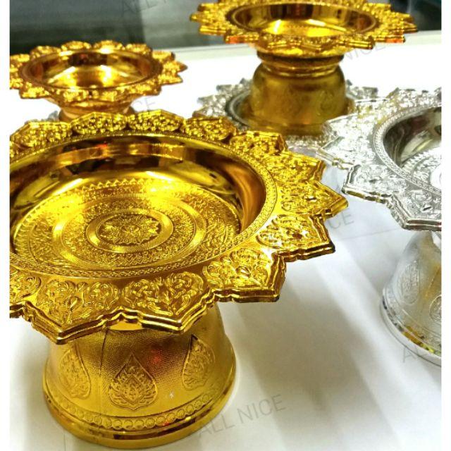 พานเงิน+พานทอง (มี 5 ขนาด) พานโตก พลาสติกอย่างดีเ