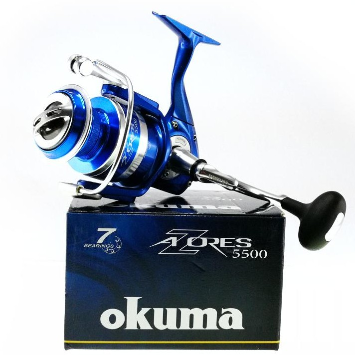 Okuma AZores 5500 , Gear Ratio 5 8:1 , 6HPB+1RB Ball Bearing , Fishing Reel