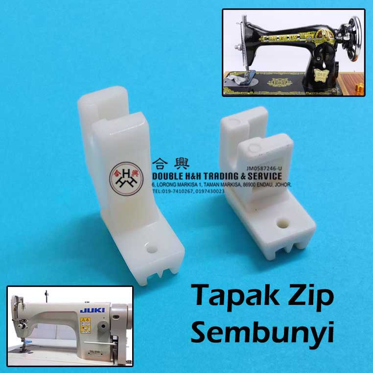Tapak Zip Sembunyi / Invisible Zip