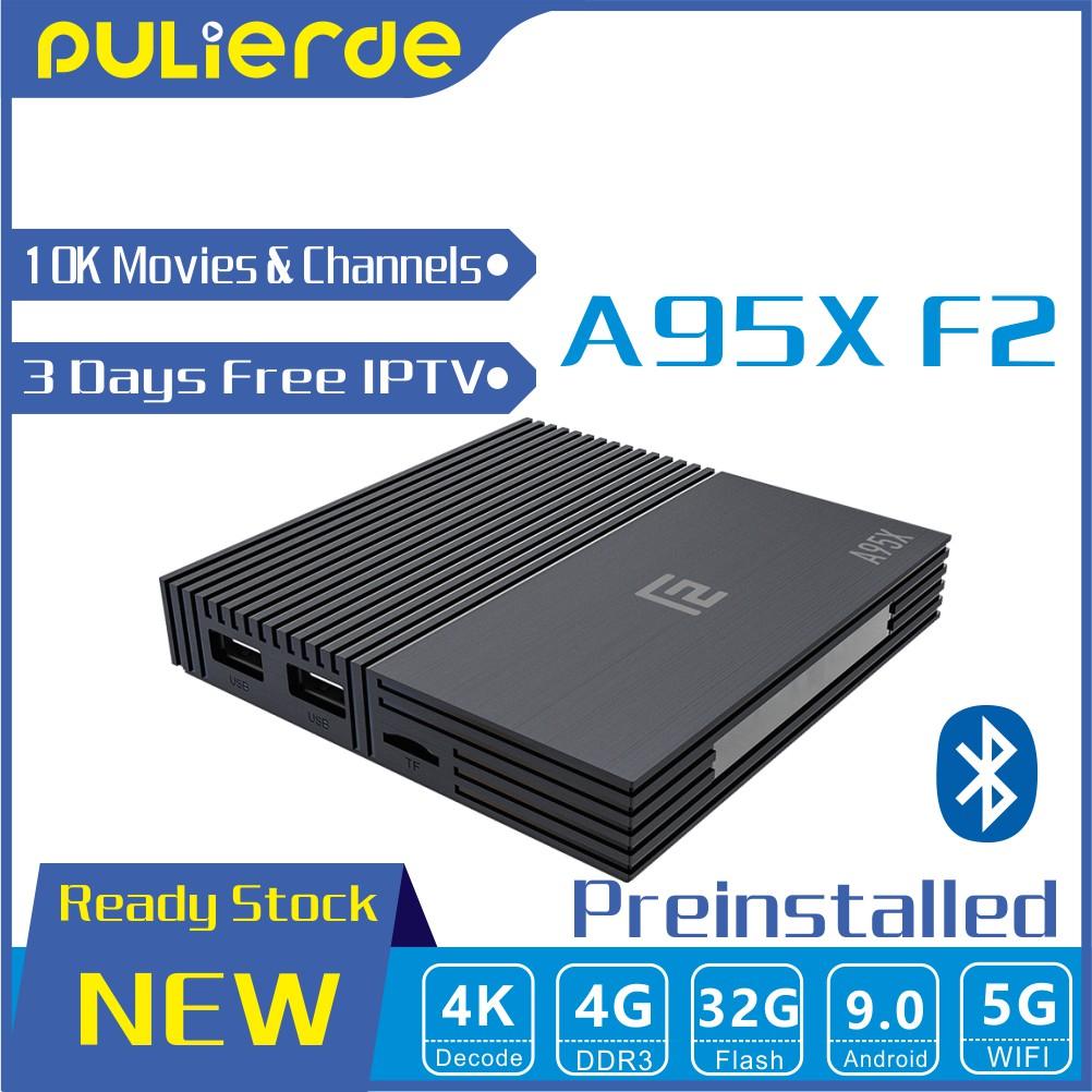 🔥NEW🔥 A95X F2 10000 Channels & Movies S905X2 4G+32G 4K Android 9 0 TV Box  Quad Core 64bit TV BOX 3 days IPTV