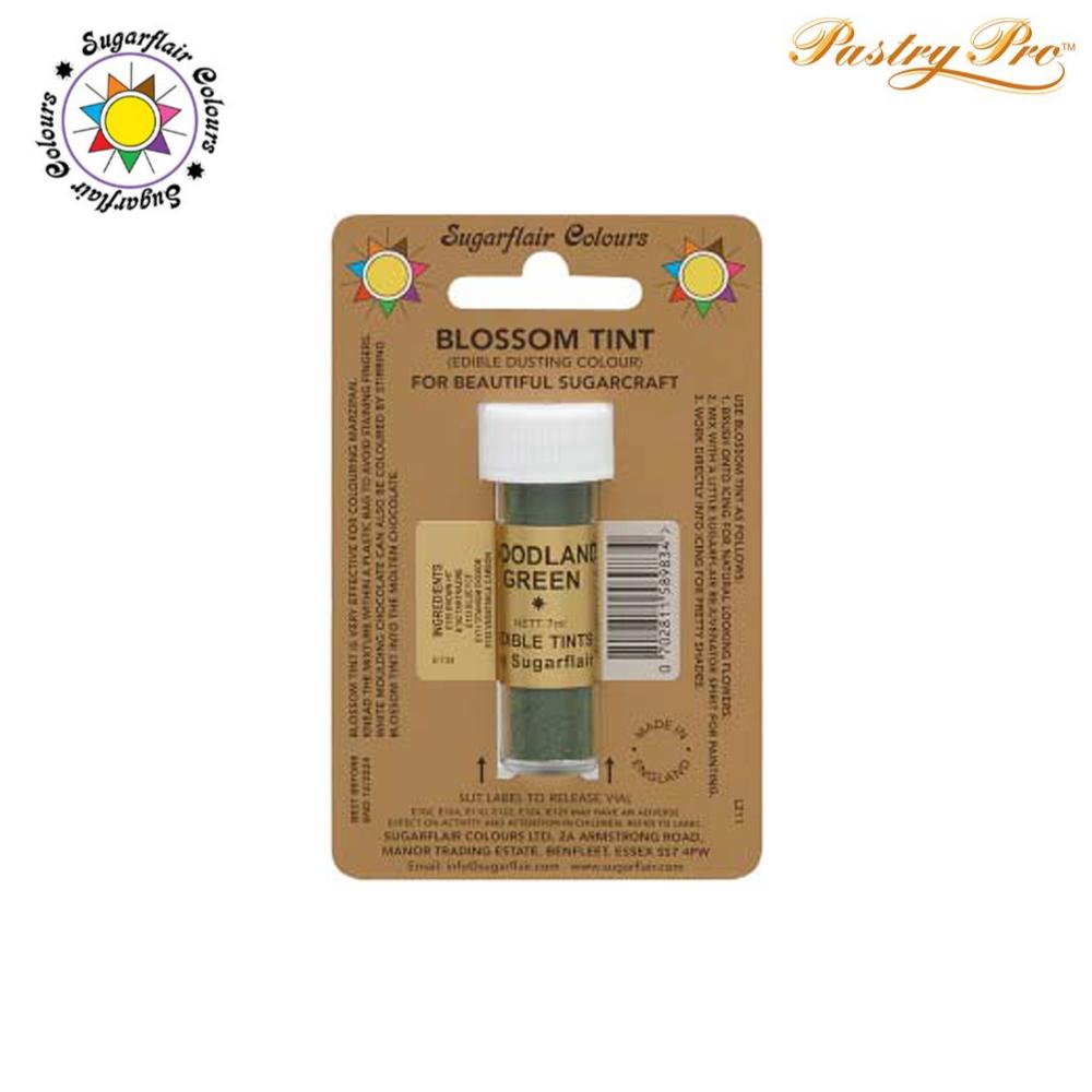 Sugarflair, Blossom Tint, Edible Dusting Powder, Woodland Green, 7ml