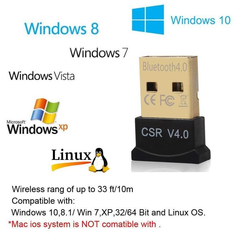 New Mini USB Bluetooth Adapter V4 0 Wireless Dongle CSR 4 0